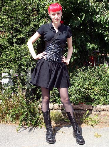 Gothic school girl porn
